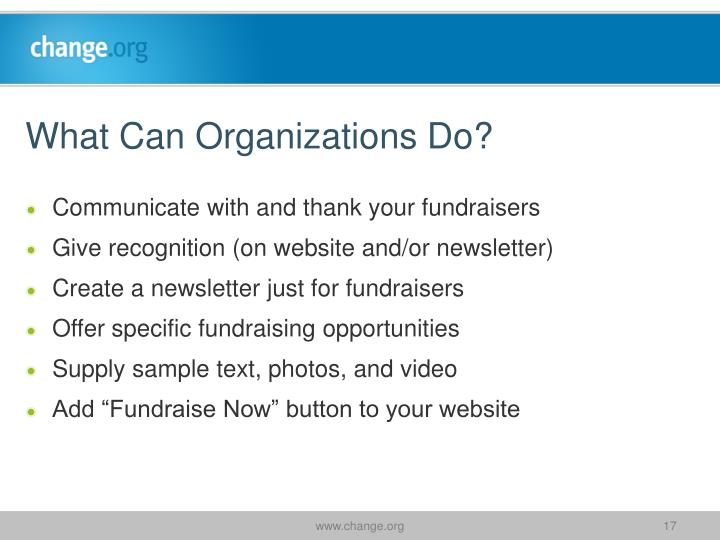 What Can Organizations Do?