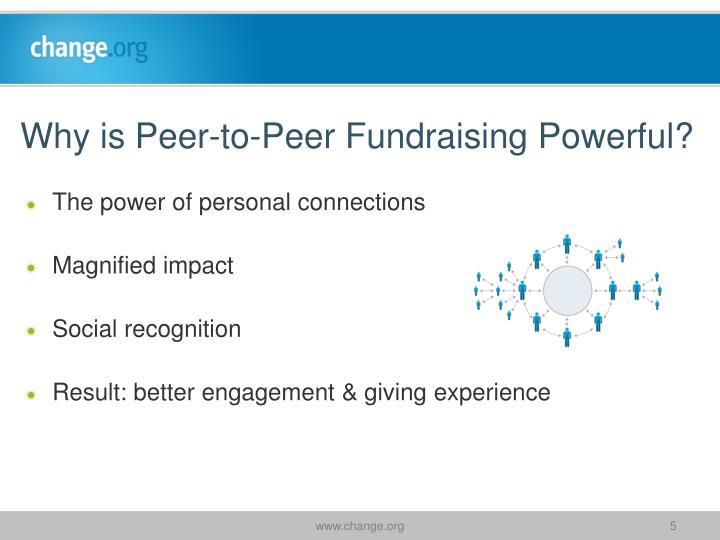 Why is Peer-to-Peer Fundraising Powerful?