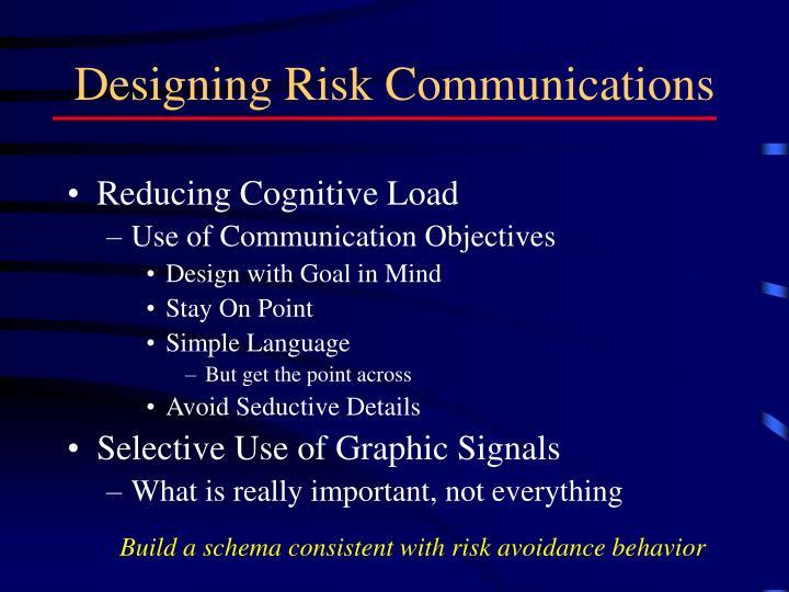 Designing Risk Communications