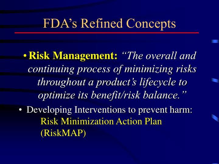 FDA's Refined Concepts