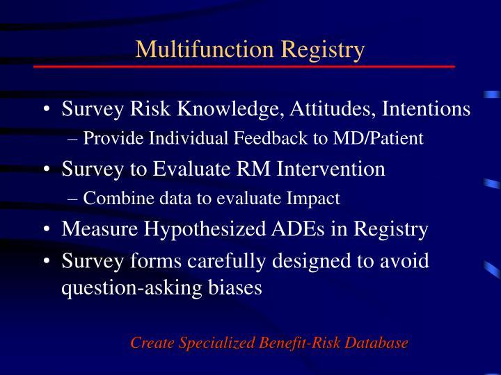 Multifunction Registry