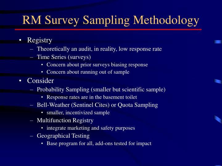 RM Survey Sampling Methodology