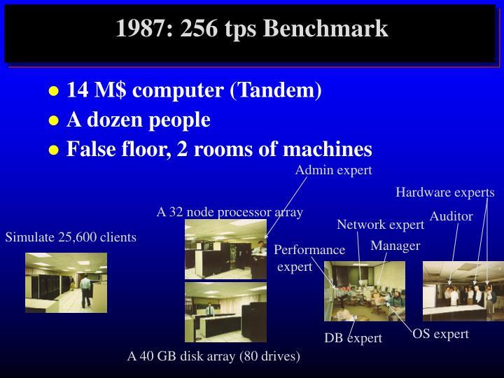 1987: 256 tps Benchmark