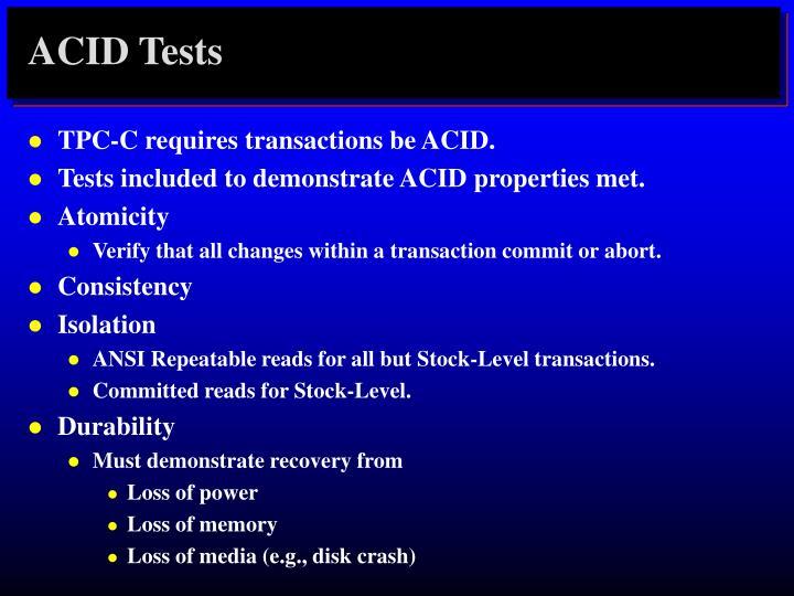 ACID Tests