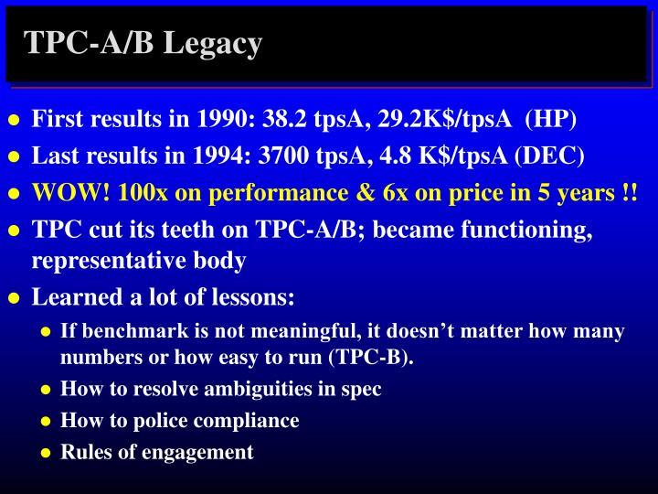 TPC-A/B Legacy