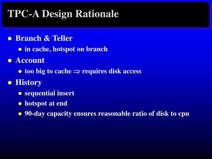 TPC-A Design Rationale
