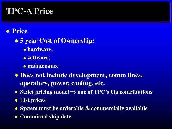 TPC-A Price