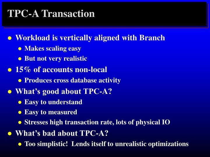 TPC-A Transaction