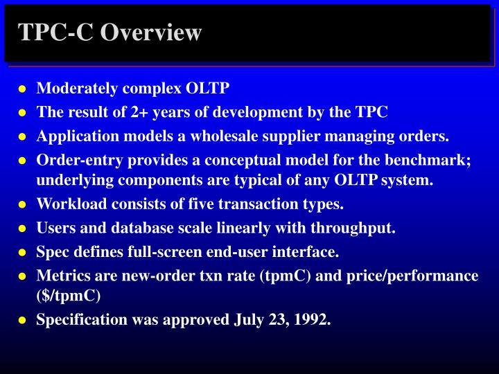 TPC-C Overview