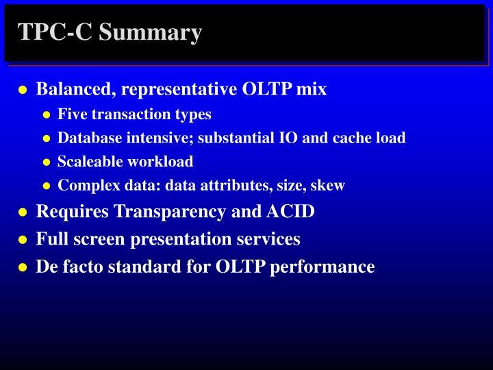 TPC-C Summary