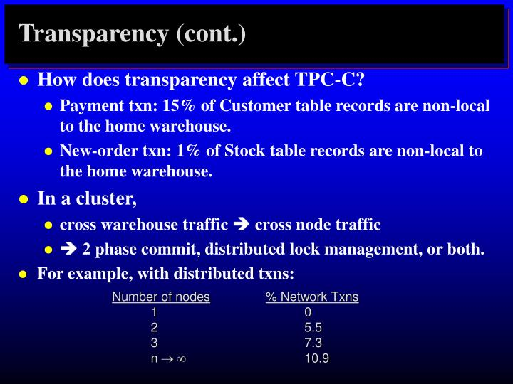 Transparency (cont.)