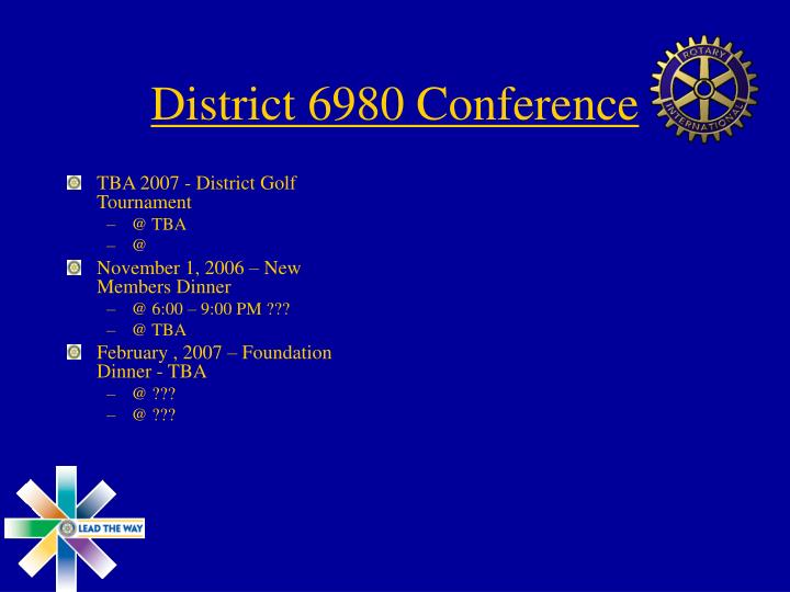 District 6980 Conference