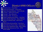 district 6980 officers