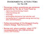 environmental action items for the ccb