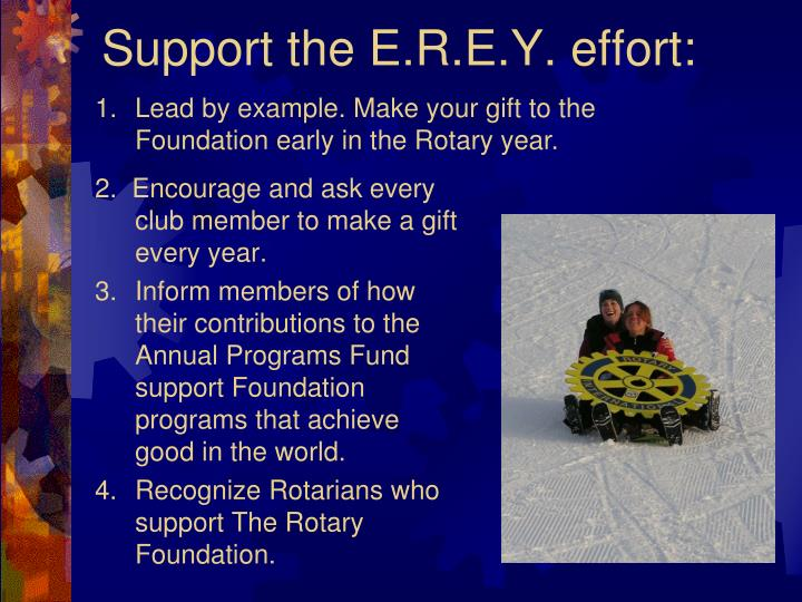 Support the E.R.E.Y. effort: