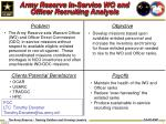army reserve in service wo and officer recruiting analysis