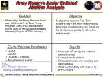 army reserve junior enlisted attrition analysis