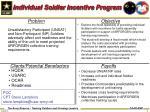 individual soldier incentive program