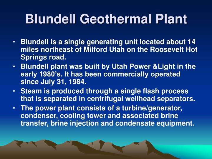Blundell Geothermal Plant