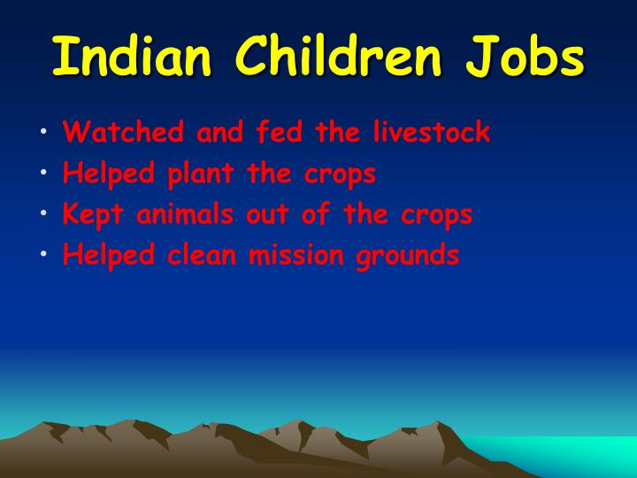 Indian Children Jobs