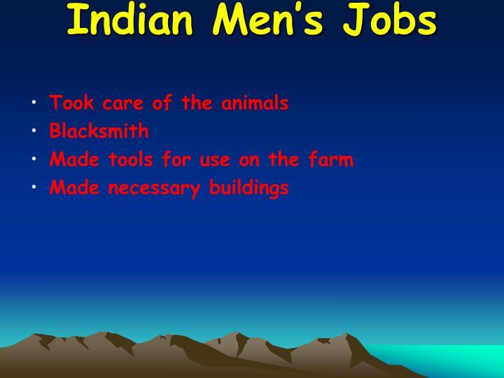 Indian Men's Jobs
