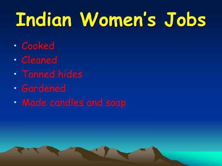 Indian Women's Jobs