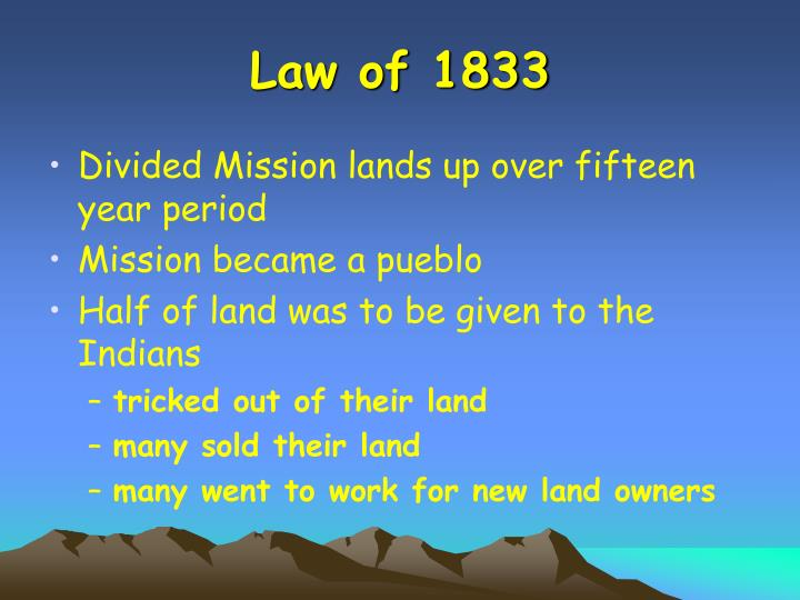 Law of 1833
