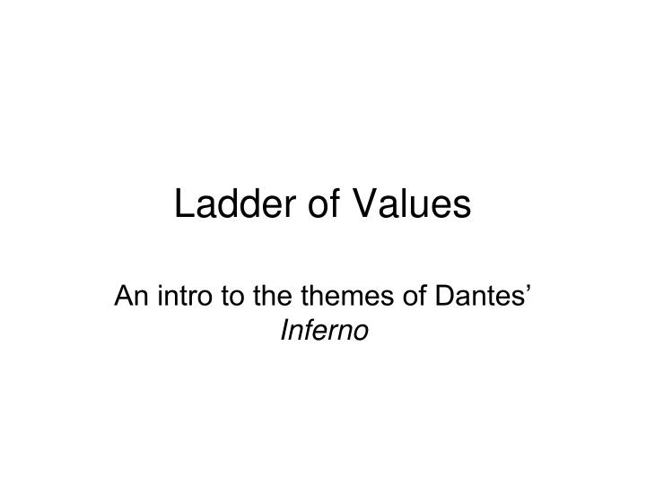 ladder of values