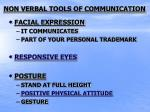 non verbal tools of communication