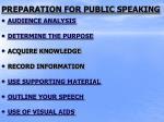 preparation for public speaking