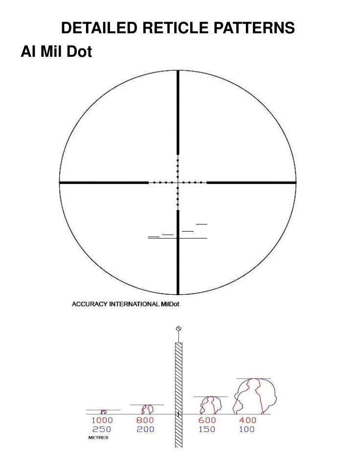 DETAILED RETICLE PATTERNS