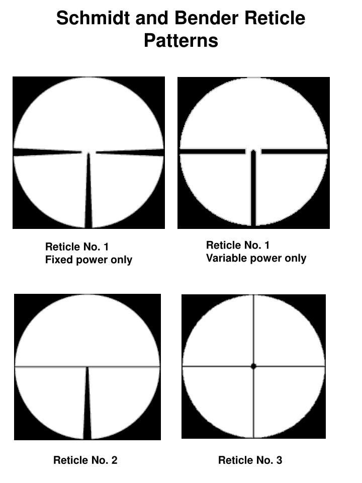 Schmidt and Bender Reticle Patterns