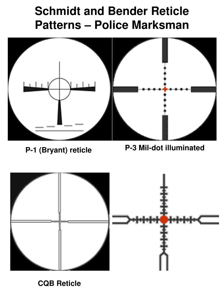 Schmidt and Bender Reticle Patterns – Police Marksman