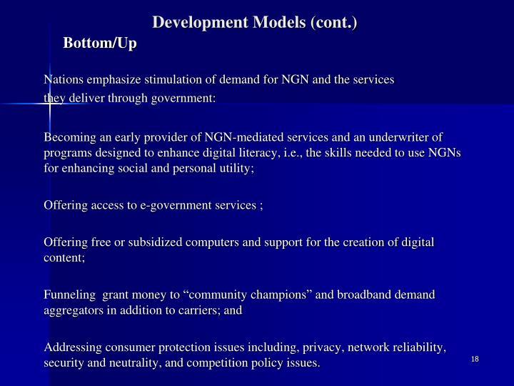 Development Models (cont.)