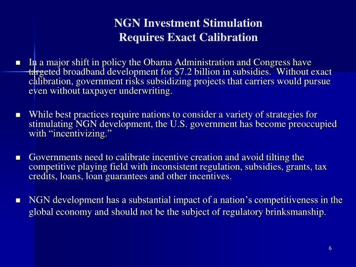 NGN Investment Stimulation