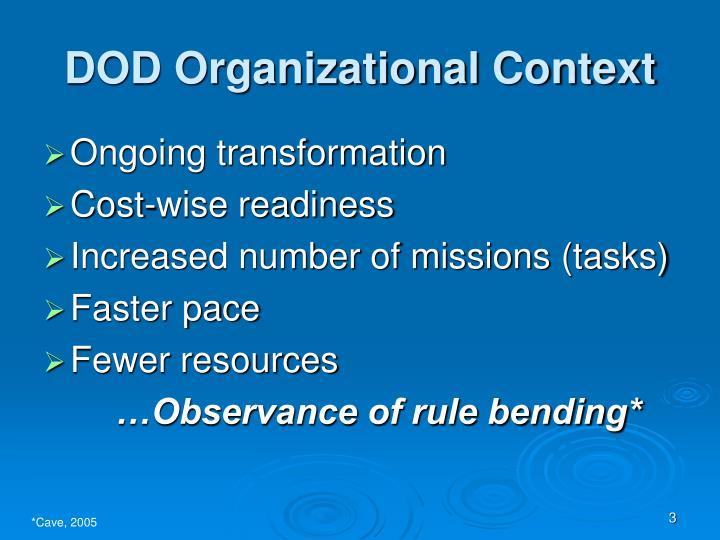 DOD Organizational Context