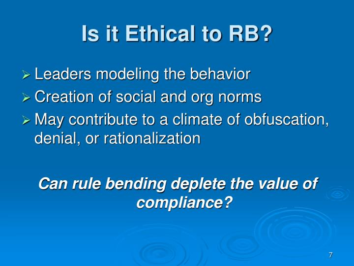 Is it Ethical to RB?