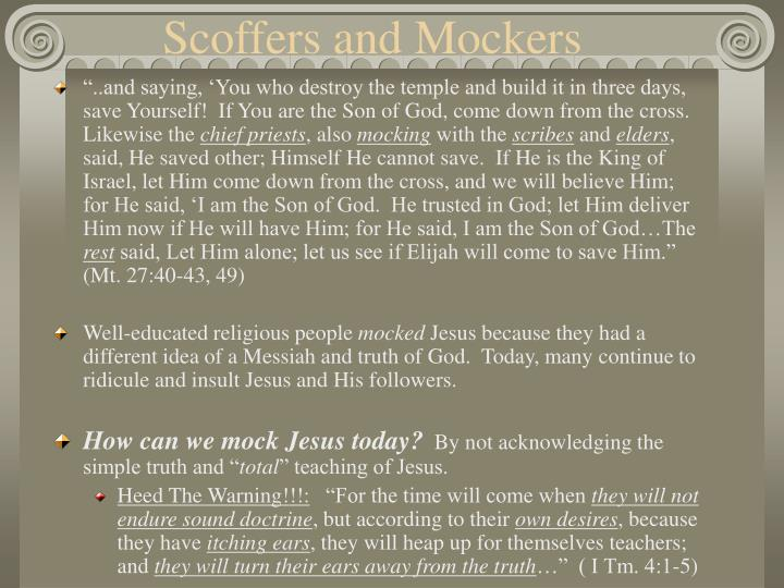 Scoffers and Mockers