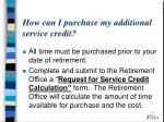 how can i purchase my additional service credit