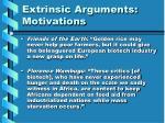 extrinsic arguments motivations
