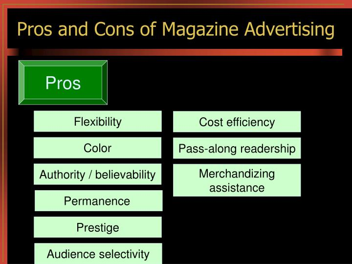 Pros and Cons of Magazine Advertising