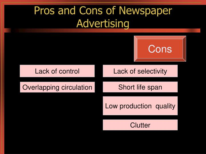 Pros and Cons of Newspaper Advertising