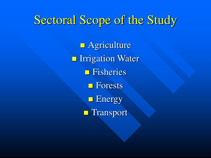 Sectoral scope of the study