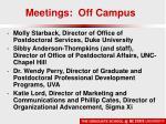 meetings off campus