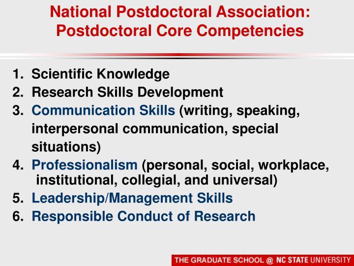 National Postdoctoral Association: