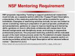 nsf mentoring requirement