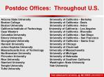 postdoc offices throughout u s