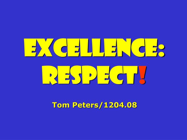 Excellence: