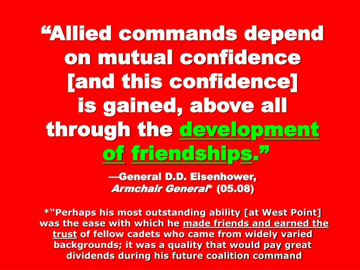 """""""Allied commands depend on mutual confidence"""