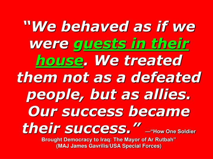 """""""We behaved as if we were"""